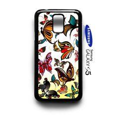 Butterflies Vector Pattern  Samsung Galaxy S5 Case Cover