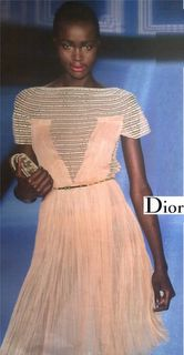 nude pink dress by dior