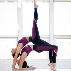 """""""My Body Is My Temple And Asanas Are My Prayers"""" - B.K.S. Iyengar. @chintwins wearing the Elevate Legging and Vixen Crop"""