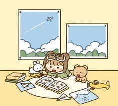 Cute Pastel Wallpaper, Soft Wallpaper, Kawaii Wallpaper, Cute Wallpaper Backgrounds, Wallpaper Iphone Cute, Cute Cartoon Wallpapers, Girl Cartoon, Cartoon Art, Cute App