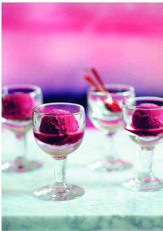 Cherry sorbet, so pretty! home made ice cream recipe Sorbet Ice Cream, Make Ice Cream, Ice Cream Maker, Homemade Ice Cream, Cherry Sorbet Recipes, Sherbet Recipes, Ice Cream Recipes, Frozen Desserts, Frozen Treats
