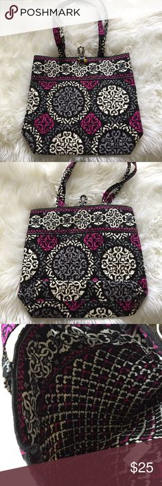 Vera Bradley Canterbury Magenta Tote Bag Perfect condition Vera Bradley Bags Totes