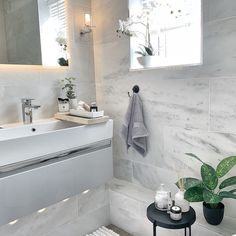 If you've seen my stories you'll know that today I've been feeling a bit overwhe. Grey Bathrooms, Modern Bathroom, Lavender Bathroom, Bathroom Inspiration, Bathroom Ideas, Bathroom Designs, Interior Inspiration, Room Tiles, Grey Walls