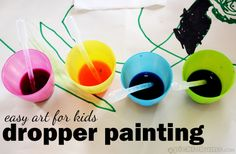 Easy Art For Kids – Dropper Painting