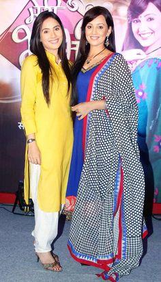 Kanchi Kaul and Esha Kansara at the launch of 'Meri Bhabhi' #Bollywood #Fashion