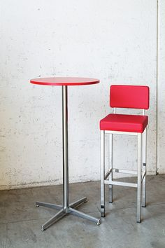 Building - Chromed steel bar stool - Contract design by Vela Arredamenti.