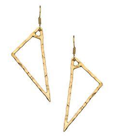 Charles Albert Alchemia Hammered Triangle Earrings #maxandchloe