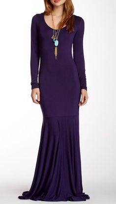 American Twist | Drop Waist Maxi Dress