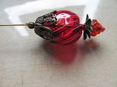 <3 Spring Strawberries Victorian Hat Pin ♥