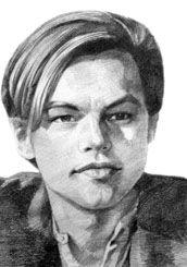 "Portrait of Leonardo DiCaprio - artist unknown - from ""Portrait Workshop"" site"