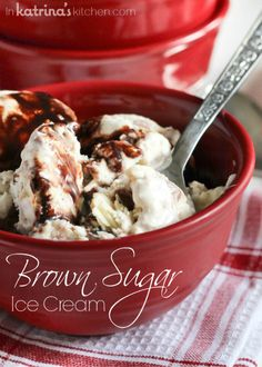 Brown Sugar Ice Cream  |  www.InKatrinasKitchen.com