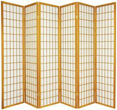 Great for dorm rooms, this Oriental Furniture Six-Panel Natural Window Pane Shoji Screen allows diffused light to pass through. Oriental Furniture, Furniture, Privacy Screens Indoor, Tall Windows, Shoji Room Divider, Asian Furniture, Grey Windows, Window Pane, Room