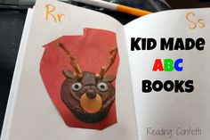 Kid made alphabet books - simple and fun