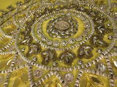 AMAZING Pillowcase! Yellow Beaded Rhinestones #HomeDecor #Bedroom #Decorating #DecorativePillow #SpencerEnterprises