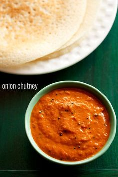 onion chutney recipe for idli and dosa. learn to make onion chutney recipe with stepwise pics. this onion chutney has many flavors combined in… Easy Chutney Recipe, Indian Chutney Recipes, Indian Food Recipes, Vegetarian Recipes, Cooking Recipes, Onion Chutney Indian, Tomato Chutney, Vegetarian Dish, Vegetarian Options