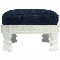 @Overstock - Inspired by Indian mills, these Chakki ottomans will enhance the decor.http://www.overstock.com/Home-Garden/Handmade-Chakki-Navy-Ottoman/7210362/product.html?CID=214117 $258.99