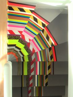 washi tape stairs!