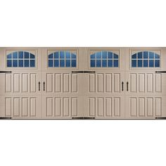 reliabilt 16 ft x 7 ft 950 series insulated double garage door with windows hickory house pinterest double garage door garage doors and carriage - 16 Ft Garage Door