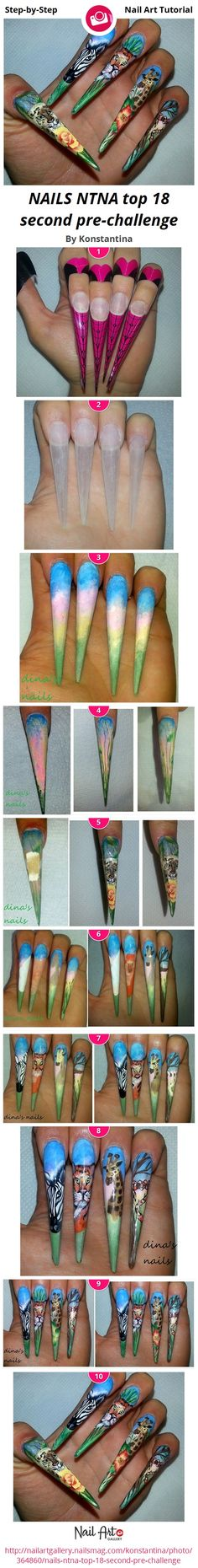 NAILS NTNA top 18 second pre-challenge by Konstantina - Nail Art Gallery Step-by-Step Tutorials nailartgallery.nailsmag.com by Nails Magazine www.nailsmag.com #nailart