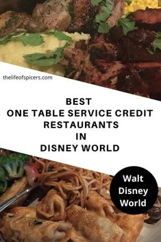 With so many Disney World restaurants to choose from, it's difficult to know which to book. Which are the best one table service credit restaurants? Disney World Packing, Disney World Florida, Disney World Resorts, Disney Vacations, Walt Disney World, Disney Worlds, Disney Travel, Disney Parks, Disney Dining Tips