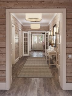 Home Interior Design, Interior Decorating, Halls, Log Home Interiors, Lodge Decor, House In The Woods, Log Homes, My Dream Home, Home Projects