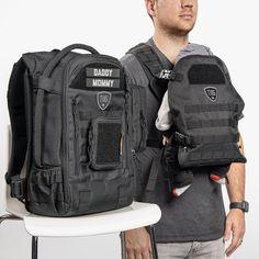 Cute Diaper Bags, Dad Diaper Bag, Diaper Bag Backpack, Molle Accessories, Thing 1, Herschel Heritage Backpack, Baby Design, Cool Baby Stuff, Baby Wearing
