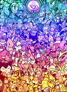 """""""Hello there! Welcome to the world of Pokémon!"""" Its the first 151 Pokemon! Drawing by Me! Pokemon Backgrounds, Cool Pokemon Wallpapers, Cute Pokemon Wallpaper, Kawaii Wallpaper, Cute Cartoon Wallpapers, Animes Wallpapers, Umbreon Wallpaper, Cute Animal Drawings Kawaii, Kawaii Art"""
