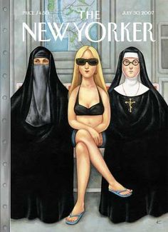 Between Burka & Nun, New Yorker cover by billy bathgate, via Flickr