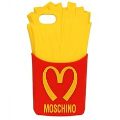 Moschino Fries iPhone 5 Case ($65) ❤ liked on Polyvore featuring accessories, tech accessories, phone cases, phone, iphone, cases and moschino