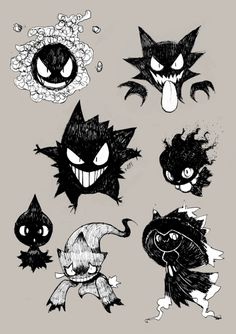 hey whats you favorite pokemon ? ghost type but there are plenty of … ALL of them! Pokemon Legal, Ghost Type Pokemon, Pokemon Fan Art, New Pokemon, Cute Pokemon, Pokemon Noir, Pokemon Comics, Banette Pokemon, Pokemon Fantasma