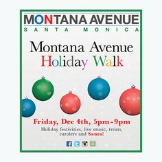 Shop small at your favorite upscale boutiques on Montana! Get discounts, see Santa, and get free photos at our office 1010 Montana!