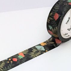 Washi Tape Single Roll Set Indigo Floral Design 15mm x 7