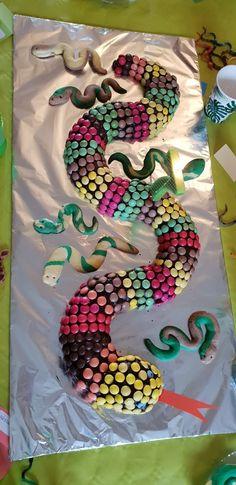 4th Birthday Cakes, Safari Birthday Party, Jungle Party, Hockey Cakes, Snake Cakes, Dyi Decorations, Snake Party, Reptile Party, Party Finger Foods