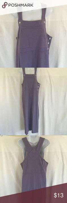 Great Northwest lavender Overall dress Overall dress by Great Northwest. Lavender, kangaroo pocket's, pearled buttons. Condition EUC, no issues! Thanks! Great Northwest Dresses Maxi