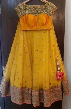 Lovely bridal lehenga with stunning blouse!