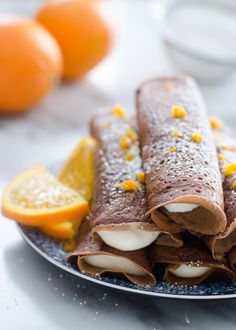 Chocolate Crepes with Orange Cream Cheese Whipped Cream