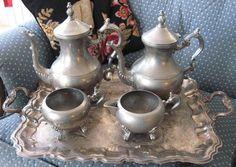 Happy Valentines Day...Antique Tea Set Mojeart at etsy.com