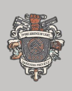 BPRD Crest - When Things go bump in the night, we bump BACK.