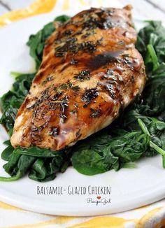 Balsamic- Glazed Chicken #recipe - RecipeGirl.com