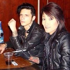 Ashley Purdy and Andy Biersack...Purdy has the perfect name for him