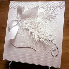 White Christmas II by bellarosa - Cards and Paper Crafts at Splitcoaststampers handmadegreetingcards Noel Christmas, Handmade Christmas, White Christmas, Elegant Homemade Christmas Cards, Christmas Abbott, Beautiful Christmas, Scrapbooking Quilling, Xmas Cards, Holiday Cards