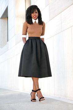Dress (worn as top) x Full Midi Skirt