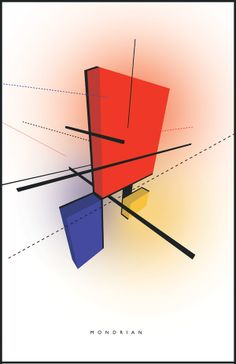 Piet Mondrian Tribute by Diego Quintana, via Behance