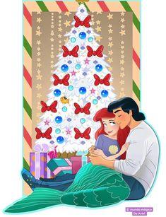 Ariel and Eric Disney Go, Disney Princess Ariel, Disney Fan Art, Disney Pixar, Disney Princesses, Disney Characters, Little Mermaid Art, Ariel Mermaid, Mermaid Disney