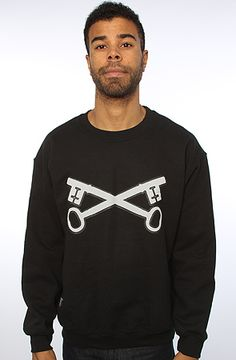 The GK Crewneck in Black with Grey XL|S|M|L