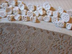 Briefmarken für Ton / Keramik, Polymer, PMC, Play-Doh, Fondant und mehr... handgefertigt und einige handgeschnitzte Muster Briefmarken