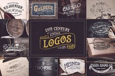 19th Century Vintage Logos by Victor Barac on @creativemarket