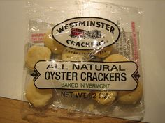 OYSTER crackers !!!??? by Ladybadtiming, via Flickr