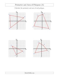 Area of Shaded Region Worksheets (rectangles and triangles