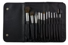 Coastal Scents 12 Piece Brush Set, 8.90 Ounce by Coastal Scents. $17.95. Set includes 12 high quality essential cosmetic brushes. Contains a high quality mix of synthetic and natural hair bristles for long lasting performance and precision application. Each brush comes imprinted with a Coastal Scents logo and a replacement part number on the handle. Each brush comes with its own protective plastic cover sleeve to ensure cleanliness. Includes stylish leatherine case for e...